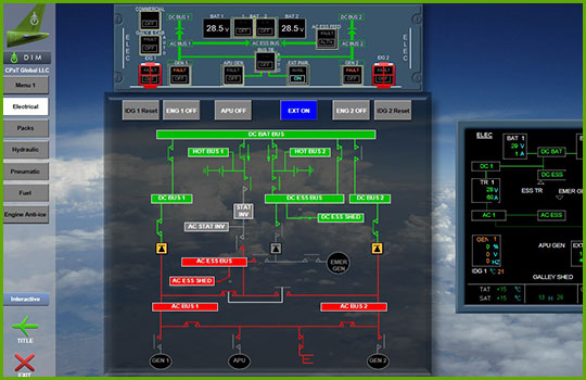 Airbus A320 Interactive Aircraft Systems Diagrams - electrical