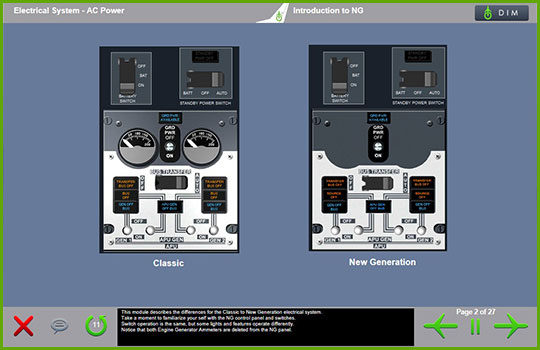 Boeing 737-Classic to Boeing 737 NG Differences Training - AC Power
