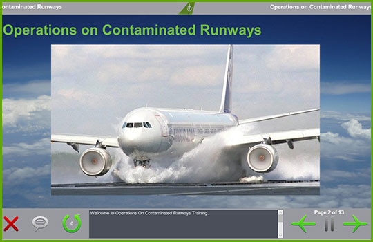 adverse weather training course - operations and contaminated runways