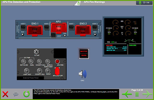 Airbus A320 Basic/Enhanced Initial and Recurrent Training Course - APU Fire Warnings