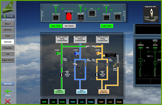 Airbus A320 Interactive Aircraft Systems Diagrams - hydraulics