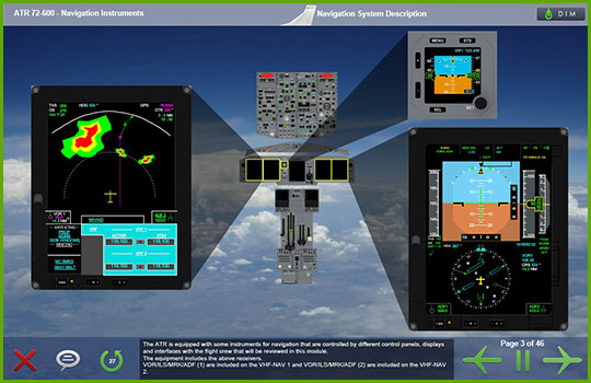 ATR 72-600 Initial and Recurrent Training Course - navigation instruments
