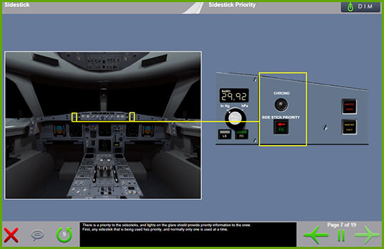 Airbus A330-200 to Airbus A330-300 Differences - sidestick priority