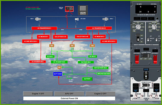 Boeing 737-NG Interactive Aircraft Systems Diagrams - Engine 3