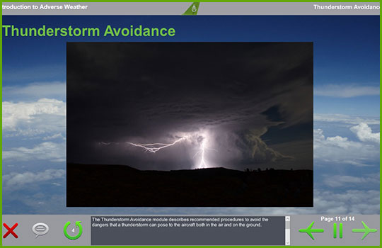 adverse weather training course - thunderstorm avoidance