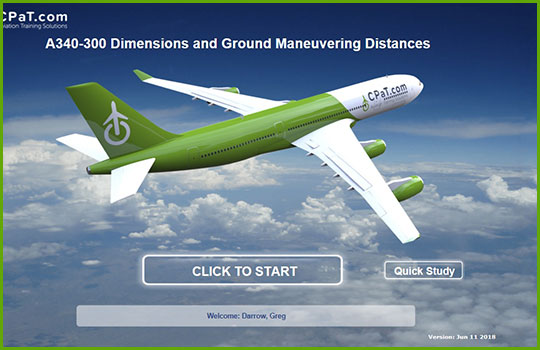 Airbus A340-300 Initial and Recurrent Training Course - maneuvering distances