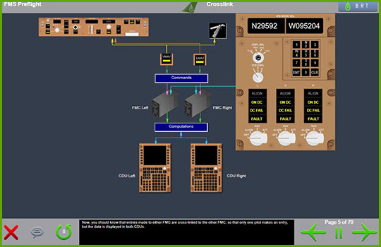 Boeing 767-200/300 fms preflight diagram