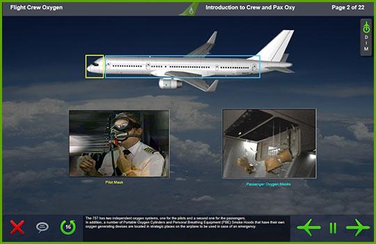 Boeing 757 Freighter flight crew oxygen diagram