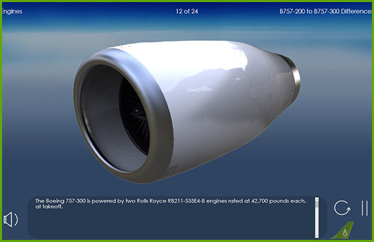 Boeing 757-200 to Boeing 757-300 engines