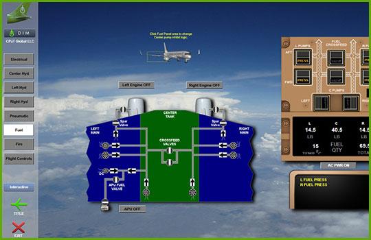 Boeing 757-200 engine control