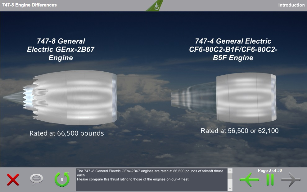Boeing 747-400 to Boeing 747-8 Engine Differences