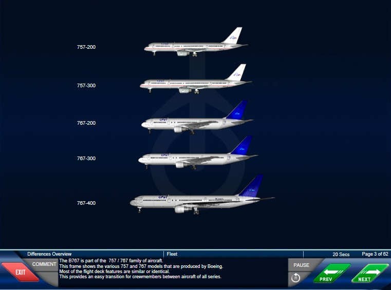 BOEING 757-200 TO BOEING 767-200/300 TRAINING COURSE